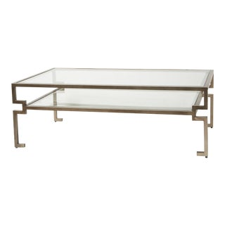 Caracole Classic Glass and Metal Coffee Table For Sale