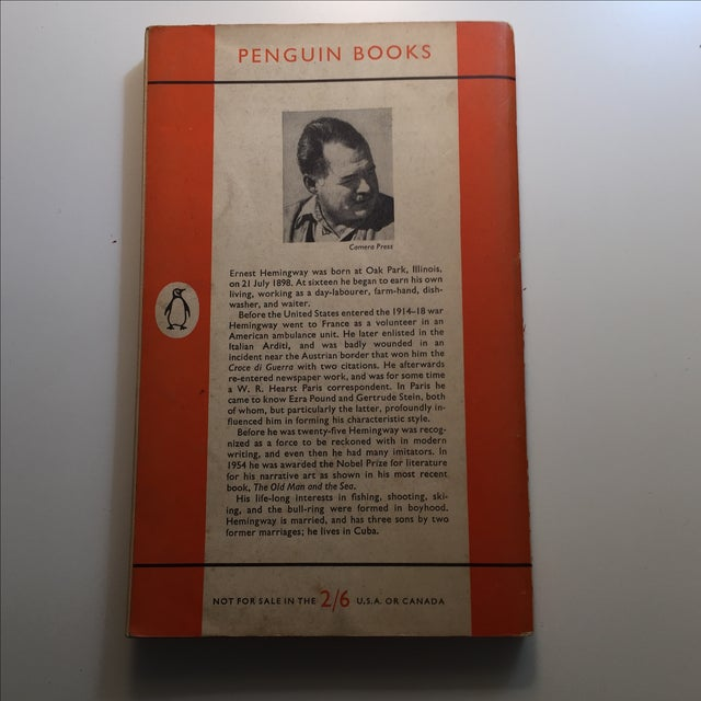 Mid-Century Modern Ernest Hemingway Men Without Women Book For Sale - Image 3 of 7