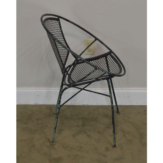 "Salterini Salterini Vintage 1960's Wrought Iron ""Radar"" Patio Lounge Chair For Sale - Image 4 of 13"