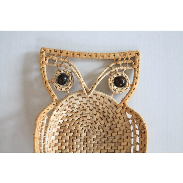 Vintage Boho style owl wall hanging. No makers mark. Minimal signs of wear.