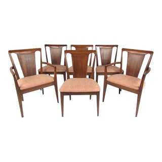 Set of Six Mid-Century Modern Dining Room Chairs For Sale