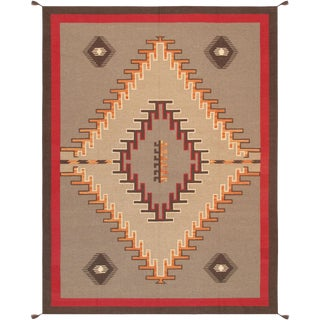 "Navajo Style Hand-Woven Area Rug - 8'11"" X 11'10"" For Sale"