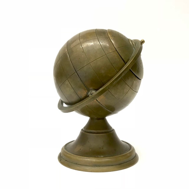 Vintage Brass Globe Ashtray - Image 2 of 5