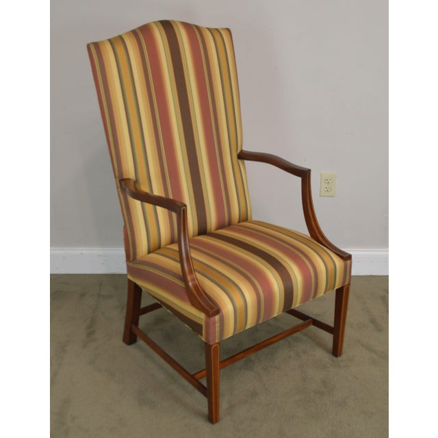 High Quality American Made Solid Mahogany Frame Armchair by Stickley