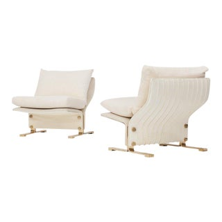 Pair of Lounge chairs by Marzio Cecchi, Italy, 1960s For Sale