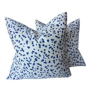 """Peter Fasano """"Double Dotty"""" Cobalt Pillows - a Pair"""