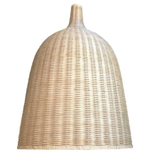 Large Cream Bamboo Rattan Lantern / Hanging Ceiling Lamp