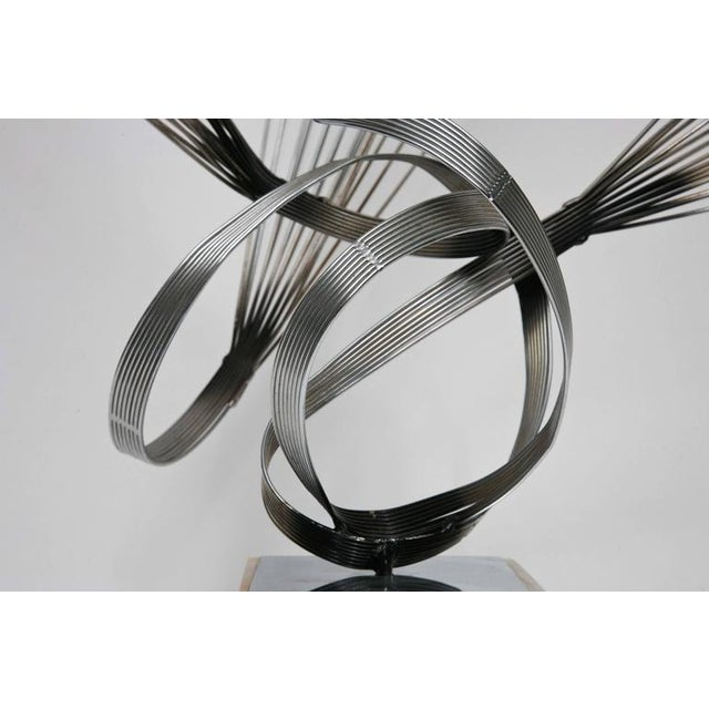 Abstract Large Curtis Jere Spirited Wire Table Sculpture For Sale - Image 3 of 9