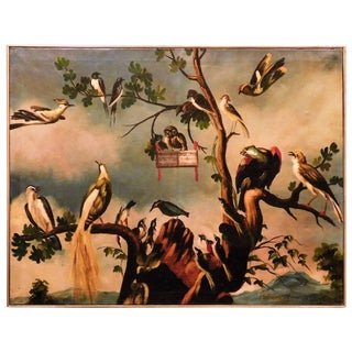 """Oil on Canvas """"A Choir of Birds"""" For Sale"""
