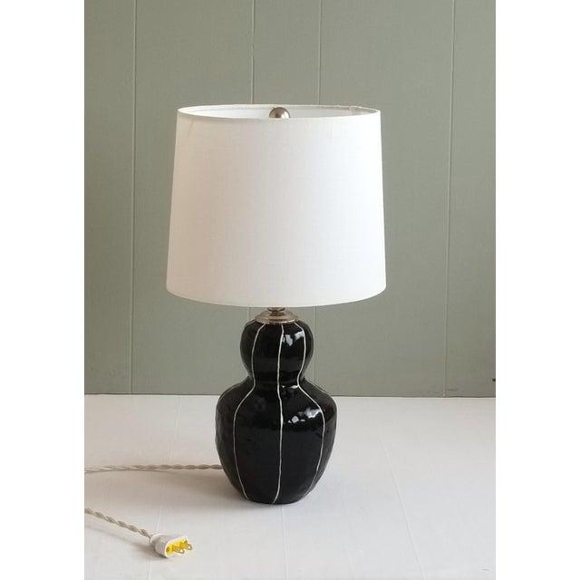 Black Bedside Table Lamp For Sale - Image 4 of 6