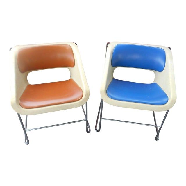 """Artoplex """"Lotus"""" Stacking Chairs - A Pair - Image 1 of 11"""