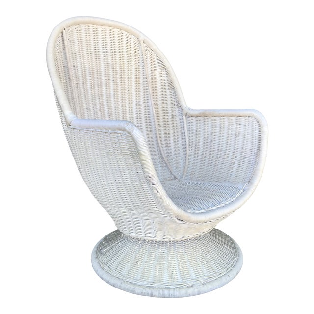 Incredible Vintage Wicker Swivel Egg Chair Home Interior And Landscaping Synyenasavecom