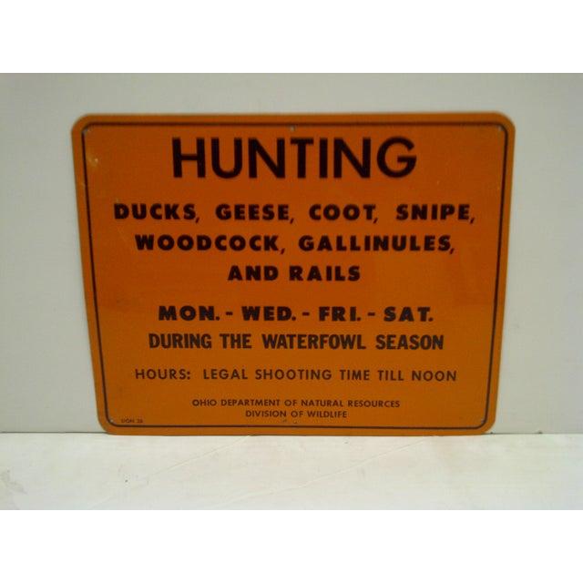 Vintage Metal Hunting Sign - Image 2 of 5