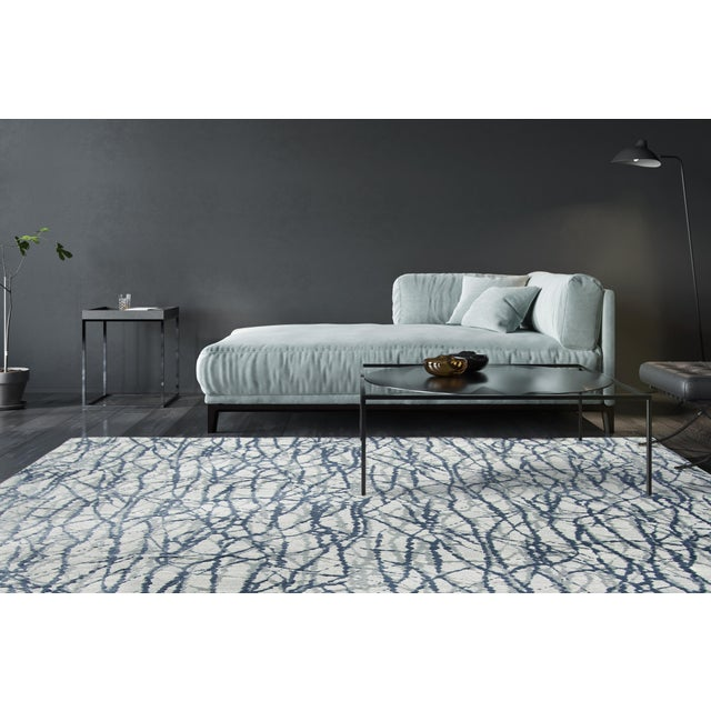 """Stark Studio Rugs Jeeves Rug in Blue, 5'3"""" x 7'9"""" For Sale - Image 6 of 7"""