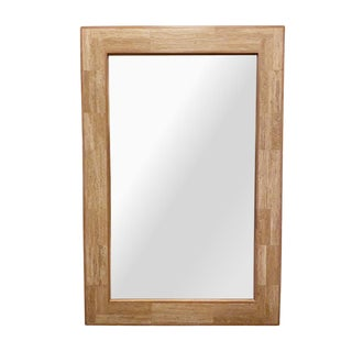 Drexel Heritage Ariel Travertine Mirror For Sale