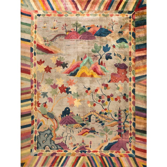 Chinese Art Deco Rug For Sale In New York - Image 6 of 6