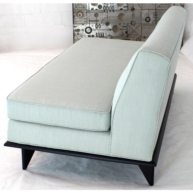 Mid-Century Modern New Upholstery John Widdicomb Mid Century Modern Loveseat Couch For Sale - Image 3 of 9
