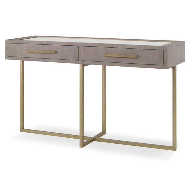 Contemporary Century Furniture Kendall Console and Mirror For Sale - Image 3 of 3