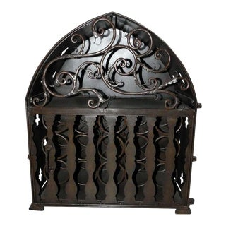 Gothic Metal/Iron Wine Rack Cabinet For Sale