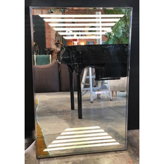 Italian Lighted Rectangular Mirror, 1970s Preview