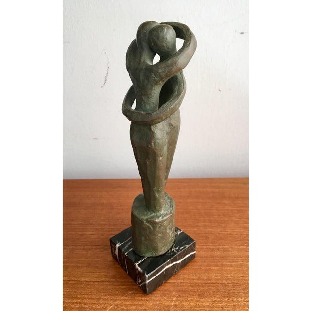 Modernist abstracted sculptures such as these make for sublime accents. This vintage reproduction by Alva Studios will add...