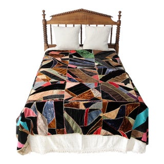 Antique Crazy Quilt For Sale