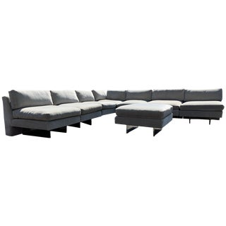 "Early 6-Piece Vladimir Kagan ""Omnibus"" Modular Sectional Sofa With Ottoman, 1963 For Sale"