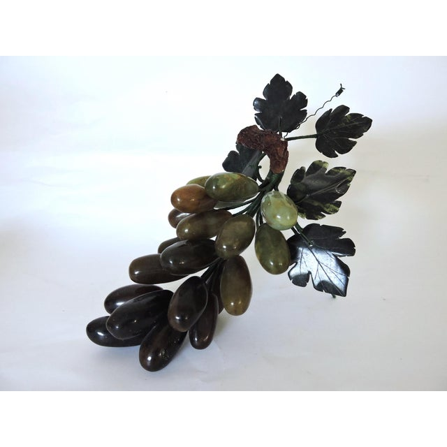 """Decorative Polished Onyx Italian Ornamental Grapes on the Vine W9"""" For Sale - Image 4 of 4"""