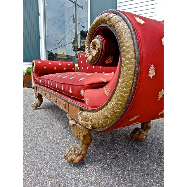 Early 19th Century English Regency Red Sofa For Sale - Image 4 of 11