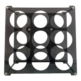 1990s Smoked Lucite Wine Rack For Sale