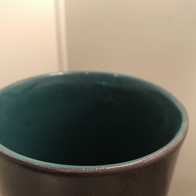 1960s Mid Century Modern Austrian Ceramic Pottery Pitcher For Sale - Image 4 of 6