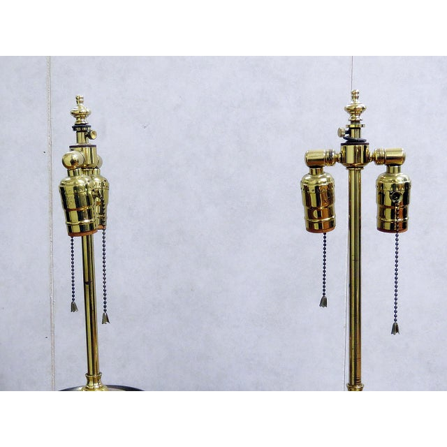 Pair of Mixed Metal Table Lamps For Sale - Image 4 of 7