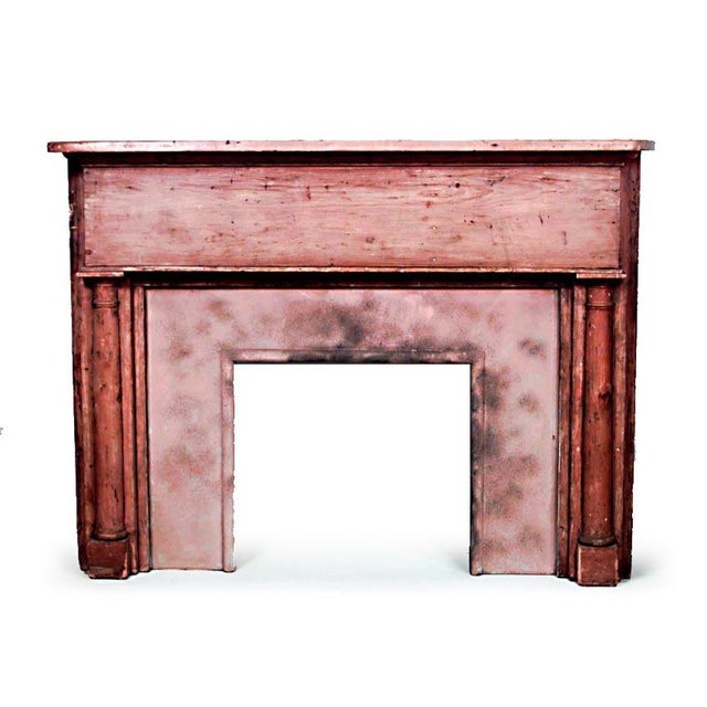 French Country Country Stripped Pine Mantel For Sale - Image 3 of 7