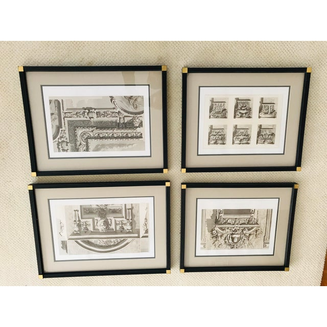 Antique Fontainebleau Architectural Framed Prints - Set of 9 For Sale - Image 12 of 13
