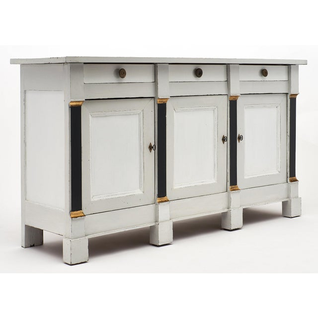 French French Painted Directoire Style Buffet For Sale - Image 3 of 11