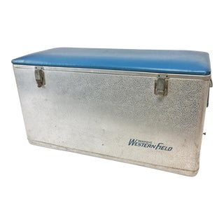 Vitnage Western Field Cooler W Padded Seat Top For Sale