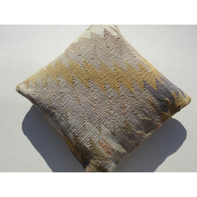 Cream Kilim Rug Pillow For Sale - Image 8 of 11