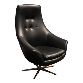 Mid 20th Century Swivel Lounge Chair For Sale