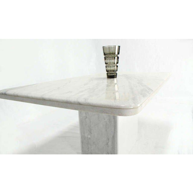 HighEnd MidCentury Modern MarbleTop Pedestal Dining Table DECASO - Mid century pedestal dining table