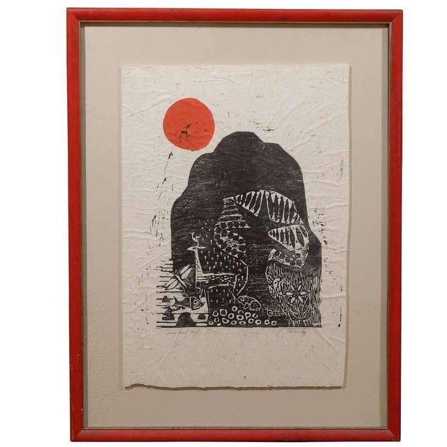 Black Clausland Mountain, a Woodblock by Artist Jim Tanaka For Sale - Image 8 of 8