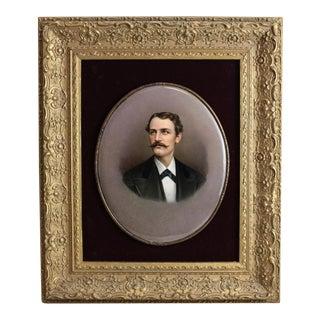 Late 19th Century B.l. Steurin KPM Porcelain Portrait Plaque of a Gentleman