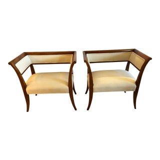 Antique 19th Century Directoire Style Chic Chairs- A Pair For Sale