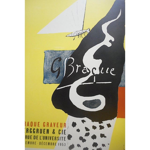This mid century modern lithograph (not an offset lithograph) by the world famous French artist Georges Braque (France...