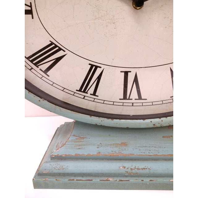 Country New Large Vintage-Style Mantel Clock For Sale - Image 3 of 9
