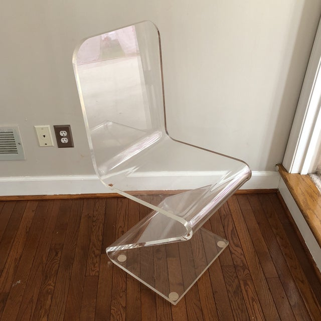 Vintage Z Lucite Side Chair For Sale - Image 9 of 9