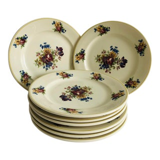 Vintage Colonial by Syracuse Floral Plates S/8 For Sale