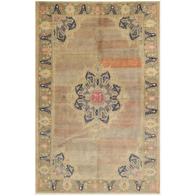 "Vintage Turkish Handmade Oriental Rug - 5'9"" x 9'7"" For Sale"