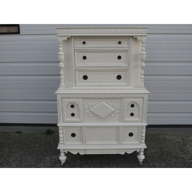 Jacobean/Gothic Highboy Chest Drawers - Image 2 of 5