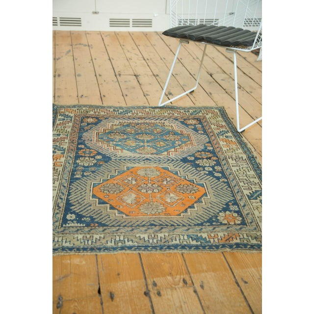 """Antique Caucasian Square Rug - 3'6"""" x 4'4"""" - Image 9 of 10"""