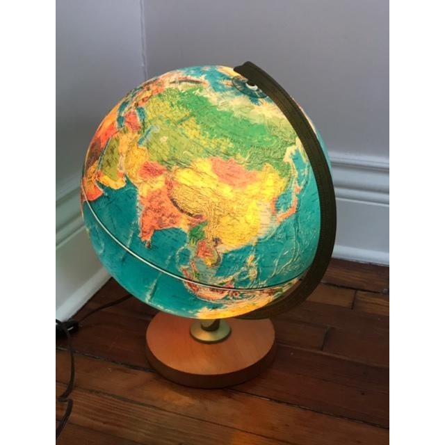 Vintage Replogle Light Up Globe with Relief - Image 3 of 5